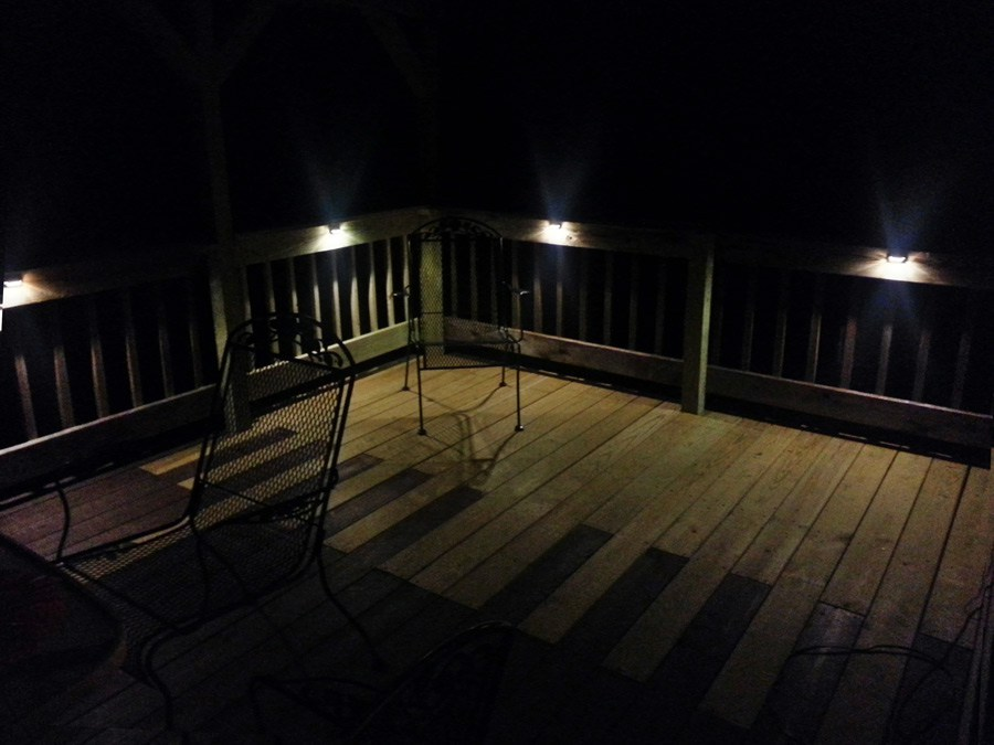 Light up your deck or patio with LEDs!